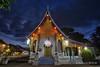 Luang Prabang (Rolandito.) Tags: laso pdr south east southeast asia luang prabang wat temple dusk twilight light lights abend evening