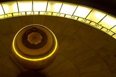 Counting Days (Æ Adrian Esparza) Tags: nikon esfera sphere observatory observatorio griffith time day pendulum pendulo gold golden dorado