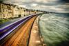 Running Late 326/365 (rmrayner) Tags: longexposuretrain seascape railway train dawlish coastal sea waves lomo brunel 326365 365project 365the2017edition vanishingpoint