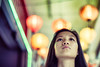 Cafe Lanterns (Jon Siegel) Tags: nikon d810 50mm 12 nikon50mmf12 bokeh woman portrait afternoon lanterns singapore chinese singaporean people