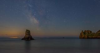 Beauport Bay + Milky Way