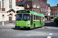Southdown 76 870905 Portsmouth [jg] (maljoe) Tags: southdown nationalbuscompany nbc leylandnational leyland