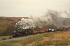 Goathland summit (feroequineologist) Tags: 44806 black5 lms nymr northyorkshiremoorsrailway railway train steam goathland