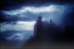The Night's Watch (Gio_ guarda_le_stelle) Tags: night nightscape wall thewall got gameofthrones landscape atmosphere cool ice titano lights brothers castle tower fortress snow sanmarino rocca cesta