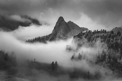 The Kingdom of Heaven (Andrew G Robertson) Tags: dolomiti dolomites italy fog mist cloud cinque torri cortina dampezzo italia forest muraglia rain weather belluno canon 5d mkiv mk4 veneto inversion torre