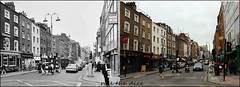 Goodge Street`1974-2017 (roll the dice) Tags: london westminster publichouse pub boozer beer ale fashion shops vanished w1 demolished sad mad surreal changes collection canon tourism tourists people cars traffic old local history retro bygone nostalgia comparison westend fitzrovia lights streetfurniture architecture oldandnew pastandpresent hereandnow urban england uk art classic alley culture wine brew doublediamond windows chimney camra pint