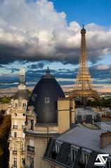 Cloudy day (A.G. Photographe) Tags: anto antoxiii xiii ag agphotographe paris parisien parisian france french français europe capitale d850 nikon nikkor 2470 toureiffel eiffeltower haussmann passy nuageux cloudy cloud