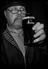 Pint of Guinness please. (CWhatPhotos) Tags: cwhatphotos pint harrington jacket hat guinness portrait pose black white mono monochrome me man male drinking ale goatee beard tint side view face glass pub inn bar drink l olympus em10 ii lens pictures picture photographs photograph pic pics foto fotos image images with that have which contain