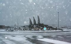 Artwork in Grindavík (helgakristinsd) Tags: listaverk iceland weather snow