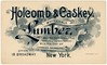 Holcomb and Caskey, Wholesale Lumber, New York, N.Y. (Alan Mays) Tags: ephemera businesscards tradecards advertising advertisements ads cards names paper printed holcomb holcombcaskey holcombandcaskey richardeholcomb caskey claytonrcaskey lumbercompanies companies wholesale lumber whitepine northcarolinapine hemlock cypress cedar shingles illustrations gaslightstyle vignettes clouds banners scrolls scrollwork dropshadow 1900s antique old vintage typefaces type typography fonts brooksbanknoteco brooksbanknote banknotecompanies printers publishers boston ma mass massachusetts