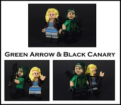 Green Arrow & Black Canary Update (MrKjito) Tags: lego super hero minifig minifigure green arrow black canary oliver queen dinah lance custom dc comics comic universe