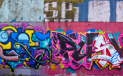 Colour Me Bad (Steve Taylor (Photography)) Tags: colormebadd iwannasexyouup jethro leeya art graffiti tag mural streetart colourful newzealand nz southisland canterbury christchurch