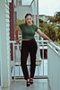 Jen, 2016 (TheJennire) Tags: photography fotografia foto photo canon camera camara colours colores cores light luz young tumblr indie teen people portrait fashion style lookbook ootd outfit 2016 braids pants shoes top self girl green makeup 50mm