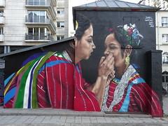 Joel Merino (septembre 2017) (Archi & Philou) Tags: streetart murpeint paintedwall paris19 ruehenrinoguères mexique merino ourcq canal