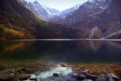 Sea Eye under the look of Lynx (mark.paradox) Tags: poland lake morskieoko mountains view landscape reflection beaty adventure nature water hills autumn stones tatranationalpark hike inspiration ice colors rysypeak amazing