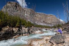 Marble Canyon (NoVice87) Tags: canada alberta canyon stream river water mountain rockies bluesky