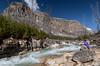 Marble Canyon (NoVice87) Tags: canada alberta canyon stream river water mountain rockies bluesky