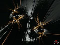 Magical Night Flight (Yarin Asanth) Tags: november nightflight tail white black dark night fairytales moth golden artwork fractal yarinasanth gerdkozik gerdkozikphotography
