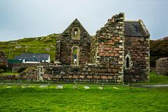 Iona Nunnery with the Nuns gravestones. (Geordie_Snapper) Tags: autumn canon5d3 iona ionanunnery isleofmull saoghalnamban september sunnyovercast