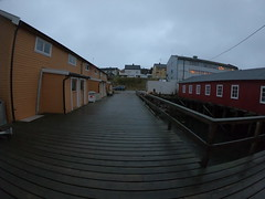 Fishermens pier (GeirB,) Tags: varanger vadsø vadsoe vadso varangerfjorden november uteliv port finnmark østfinnmark fisher norway north northernnorway scandinavia 70north arctic høst havn harbour harbor pier kai gopro hero6 black rain sleet sludd regn explore explored