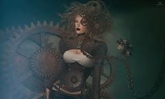 Breezy~SteamPunk (Skip Staheli *FULLY BOOKED*) Tags: skipstaheli secondlife sl avatar steampunk breezycarver bird clock fantasy dreamy digitalpainting