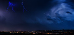 """Thunderstorm over my Hometown"" (helmet13) Tags: d800e raw thunderstorm lightning sky ulmminster ulm weather panorama thunderyclouds city aoi peaceaward platinumpeaceaward heartawards world100f 200faves"