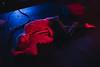 Hilly (BurlapZack) Tags: pentaxk1 pentaxfalimited43mmf19 vscofilm pack01 dallastx oakclifftx texastheatre behindthescreen georgequartz performance artperformance piece furcoat floor red blue availablelight livemusic localmusic venue handheld lowlight highiso bokeh portrait dof applebox cables actor actress theater performanceart