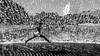 JUMP (ThorstenKoch) Tags: street streetphotography strasse stadt schatten shadow silhouette summer sun sonne schwarzweiss water waterfall girl jump lisbon lissabon lisboa portugal thorstenkoch fuji fujifilm pov photography people photographer pattern monochrome blackwhite fun makro monday macro
