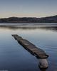 Jetty and half-moon (Donard850) Tags: lochard scotland trossachs jetty lake moon water