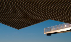 Renzo Piano. Centro Botin #15 (Ximo Michavila) Tags: renzopiano architecture archidose archdaily archiref ximomichavila centro botin santander cantanbria spain museum metal sunset silhouette sky day clear blue abstract geometric graphic