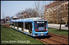 601-1995-04-22-1-Augustusburger Straße (steffenhege) Tags: chemnitz cvag tram strasenbahn streetcar niederflurwagen variobahn prototyp 601