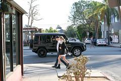 Melrose (Vita Calcio) Tags: everythingsgoingup melrose la los angeles walking tourist g wagon mercedes starbucks crossing street couple
