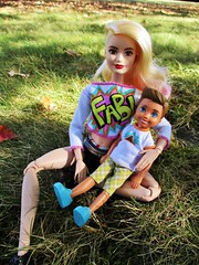 I love my son 💕 (flores272) Tags: lagirlbarbie madetomovebarbie barbiedoll barbie barbiefashionistas barbieclothing boychelsea campingfunboydoll outdoors doll dolls toy toys