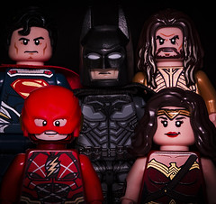 The Justice League (Jezbags) Tags: lego legos toy toys macro canon 60d 100mm closeup macrophotography macrodreams macrolego dc dclego legodc justiceleague justice league batman superman wonderwoman theflash aquaman superhero hero