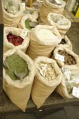 Spices (Frank Zigan) Tags: shukmarket israel2016 spices sacks gewürze chilly kardamon mahaneyehudamarket traders market spicebags pilze shrooms vegetables fruits nuts