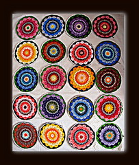 NEXT BLANKET: MANDALAS (Patchwork Daily Desire) Tags: manadala crochet crafts cozy blanket blocks summer sky stars sun red circle patchworkdailydesire yarn yellow green blue brown