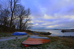 Boats (annemwo) Tags: nature outdoor sea shore seaside tønsberg norway november clouds