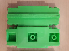 WIP LEGO monorail 3d printed prototype (Chris Xenyo) Tags: lego monorail 3d printing pla abs filament prototype rails space wip work progress