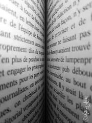 Le vertige des mots (Audrey A Photography ॐ) Tags: noir et blanc nb blackwhite abbès audreyabbès livre mots roman noiretblanc texte book words novel sentence phrase text