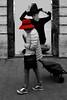 Per puro caso (meghimeg) Tags: 2017 sanremo donna woman street cartellone manifesto poster cappello hat rosso red casualità caso royo rot fortuity