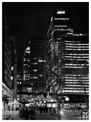 AMP Centre Area (PEN-F_Fan) Tags: australia blackandwhite people mirrorless exposurex3 preset olympuspenf dxophotolab micro43 alienskin lamps border processingsoftware light postprocessing bwfilms ilforddelta100 microfourthirds photography architecture sydney architectural night street miscellaneous frame skyscraper nature monochrome raw alienskinexposure newsouthwales mzuiko12100mmf40pro filmlook ampcentre building mft on1photoraw dxoviewpoint road