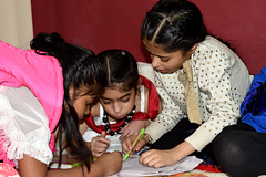 DSC_0185 (vireshwali) Tags: girl birthday child childhood daughter education girls home indoor kid knowledge learn learning leisure literature little person portrait pupil read reading small story student study young nikon d5600 india gurgaon haryana littlegirl cookies playtime friends pals bestie in