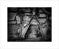 No points (tkimages2011) Tags: metal iron rust railway track point points slate quarry dinorwic llanberis northwales wales outside decay entropy stone lines mono blackandwhite