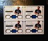 Foursome of 2015-16 National Treasures Andrew Wiggins Triple Game Gear Jersey Cards. #'d 04/49, 19/49, 46/49, 48/49. (CardKing739) Tags: nba nationaltreasures andrewwiggins gamegear jersey jerseycard jerseycards sports sportscards relic reliccard blowoutcards whodoyoucollect minnesotatimberwolves photo pic art white blue gold fav100 fav25 pinterest tumblr instagram facebook nike adidas underarmour canada mapleleaf