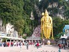 Batu Caves 黑风洞 (stardex) Tags: batucaves cave statue hindu culture religion hill landscape plant kualalumpur malaysia staircase