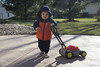 Ash Day 352 (evaxebra) Tags: wisconsin wi ash lawnmower bubble mower cold jacket