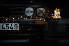 "Black E30 1986 ""Чудо"" winter (Sandra_Step) Tags: black e30 bmw aerodynamic rial mesh r16 winter christmas new ear pre facelift cross pfl tire lights pandem rocket bunny rb drift car driftgirl"