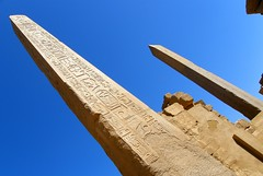 Steles skyrocketing (Francesco Pesciarelli) Tags: steles karnak luxor egypt africa flickr pesha colors sky hieroglyphs written history stone life big downloadable mentionmyname varied collection thoughtful colours