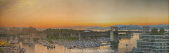 Besame Mucho (Theodora Kalavesis) Tags: photography panoramic view granvilleisland landscape landscapes sunset vancouver vancity vancouvercity bc britishcolumbia canada theodorakalavesis theodorakalavesisphotography theodora sky water