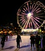 "Ice skating by ""Oslo Eye"" 😂 (evakongshavn) Tags: iceskating skate ice oslo norge norway tourist turistiegenby streetphotography streetview street urbanlife urban urbanphotography light round wheel ferris city cityskype cityscape"